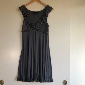 3/$25 SALE Cynthia Rowell Grey Ruffle Dress